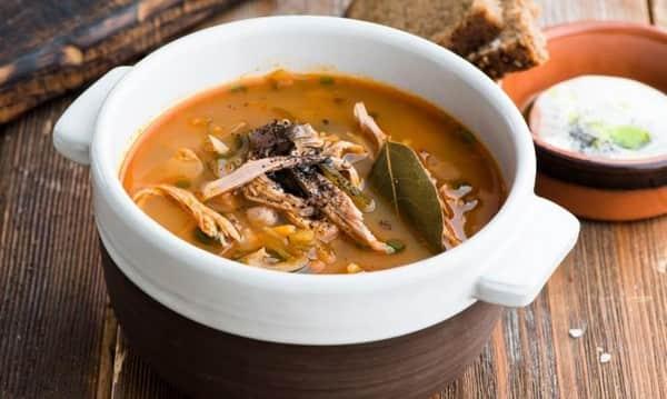 Суп домашний с грибами