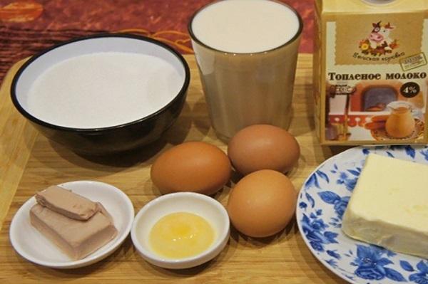 Пасхальный кулич продукты