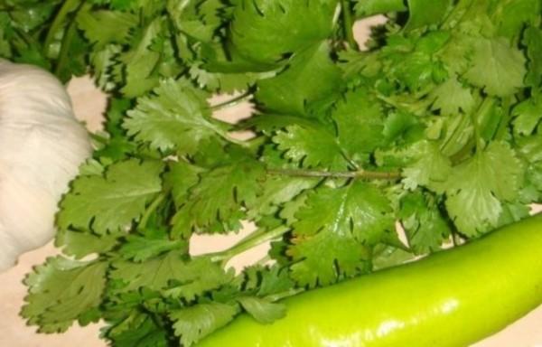Малосольные огурцы с перцем и зеленбю
